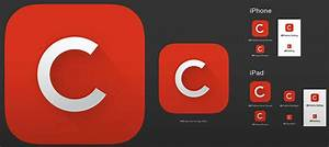 Free ios 7 gui kits and templates for Iphone app logo template