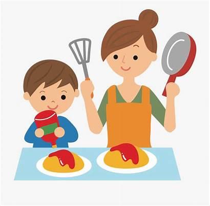 Clipart Help Mom Cooking Clip Cartoon Transparent