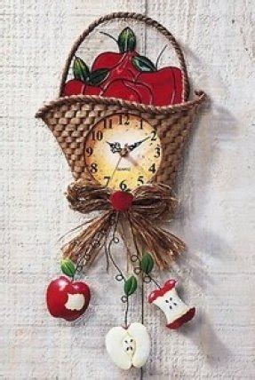 country apple kitchen decor decorative wall clocks for kitchen foter 5937