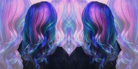 Galaxy Hair Trend Multicolored Hair Trends