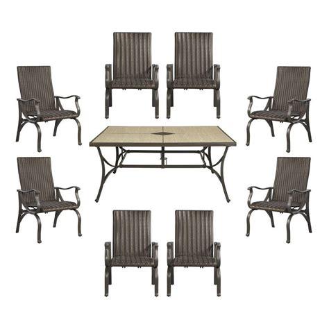 hton bay pembrey 9 patio dining set hd14227 the