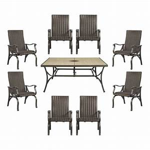Hampton bay pembrey 9 piece patio dining set hd14227 the for Pembrey 9 piece patio dining set