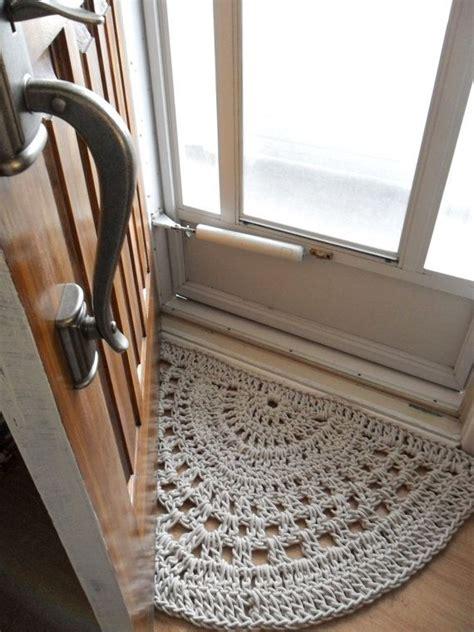 crochet doormat crochet door mat make with plastic bags inspiration