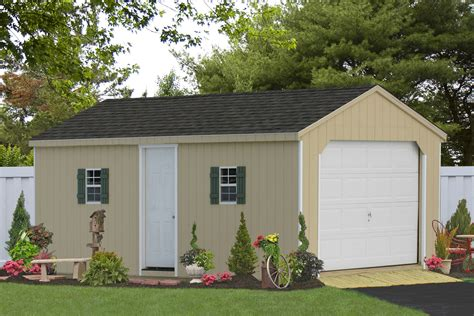 Garage Storage Shed by Amish Storage Sheds Wood Sheds Vinyl Storage Shed Kit