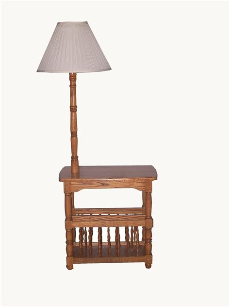 end table with attached l and magazine rack chairside end table with l table with built in l