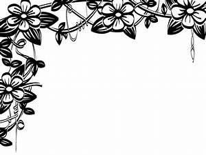 Free Page Border Designs Flowers Black And White, Download ...