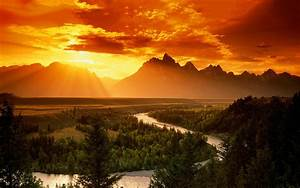 Landscape Sunset Mountain Wallpaper Cool HD | I HD Images