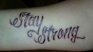 Hand Tattoos Schrift : raykun schrift stay strong tattoos von tattoo ~ Frokenaadalensverden.com Haus und Dekorationen