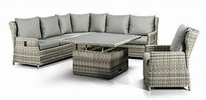 Xxl luxus hohe dinning poly rattan lounge quothaitiquot mit for Whirlpool garten mit pflanzkübel xxl keramik