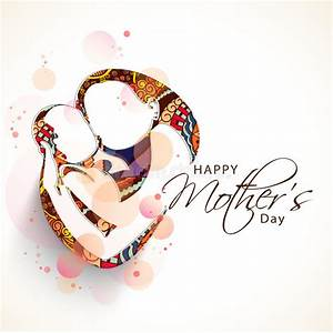 Happy Mothers Day Celebration Concept With Sketch Of Mom ...