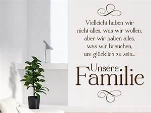 Wandtattoo Sprüche Familie : wandtattoo unsere familie familienweisheit wandtattoo de ~ Frokenaadalensverden.com Haus und Dekorationen