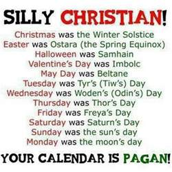 why is christianity beholden to babylonian holidays of and easter mythology follow