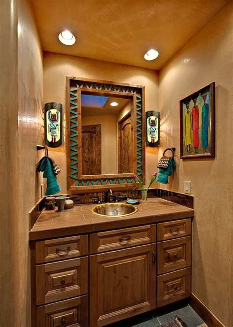 cowboy bathroom ideas western homes turquoise accents and westerns on pinterest