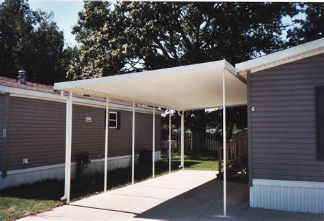 The first thing you need to do when building a carport is create the supports. Mobile Home Carport Awning Supports | Taraba Home Review