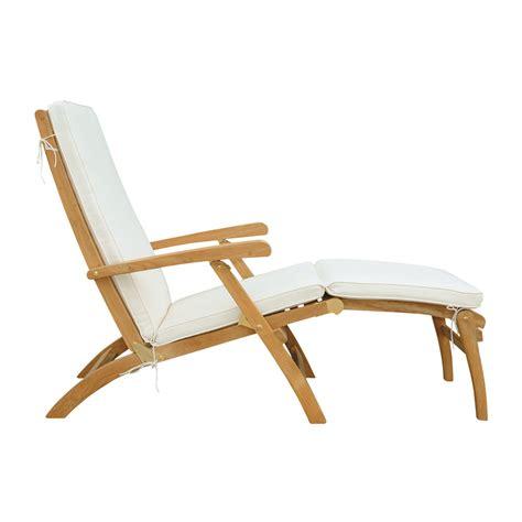 chaises en teck chaise longue en teck massif l 170 cm olé maisons du