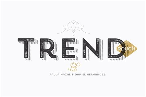 Trend Rough Font Family (includes 24 Fashionable Fonts