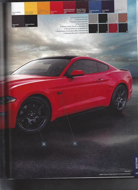 ford mustang order guide leaked  dont opt   chrome grille carscoops