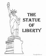 Liberty Statue Coloring Pages July 4th Symbols American Printable History Patriotic Facts Sheets Lady Clipart Activities Easter America United Statues sketch template