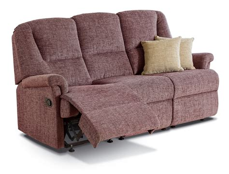 Reclining Settees by Milburn Small Fabric Reclining 3 Seater Settee Sherborne