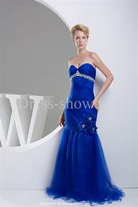 Getting slim bridal look with royal blue mermaid wedding for Royal blue dress for wedding