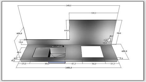 plan de travail cuisine grande largeur largeur plan de