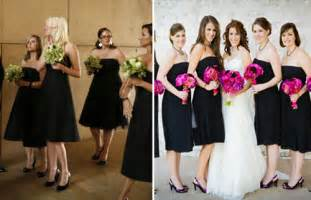 black dresses for bridesmaids the timeless elegance of black bridesmaids dresses