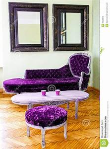 Purple Furniture Stock Image Image Of Sofa Table Room