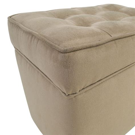 tufted ottoman with shelf 80 off beige tufted ottoman with storage chairs