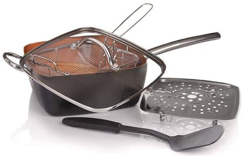 amazon copper pan  piece cookware set   reg copper cooking pan copper