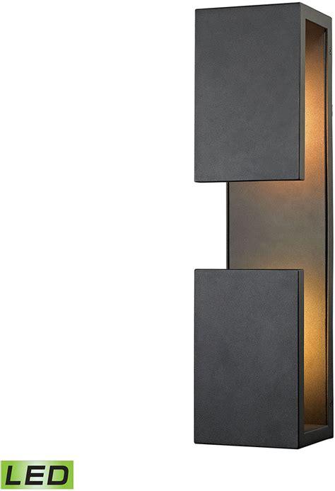 elk 45232 led pierre contemporary textured matte black led