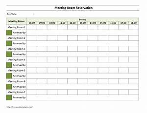 Meeting room reservation form for Conference room reservation template