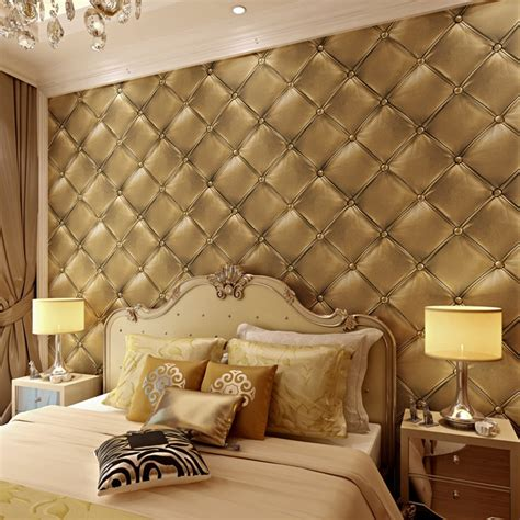 luxury imitation leather pattern wallpaper roll  walls