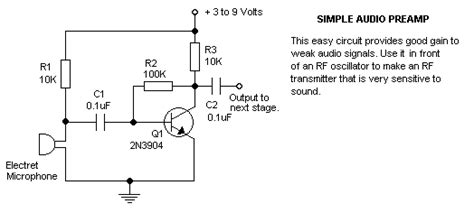 Electret Microphone Circuits Page