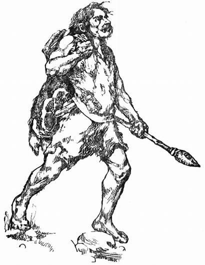 Caveman Spear Ancient History Coloring Transparent Webp
