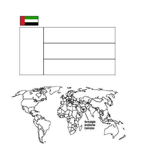 Arabische Kleurplaten by Leuk Voor Landen En Vlaggen Verenigde Arabische