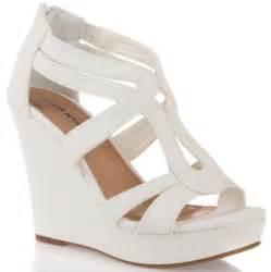 white platform sandals ebay