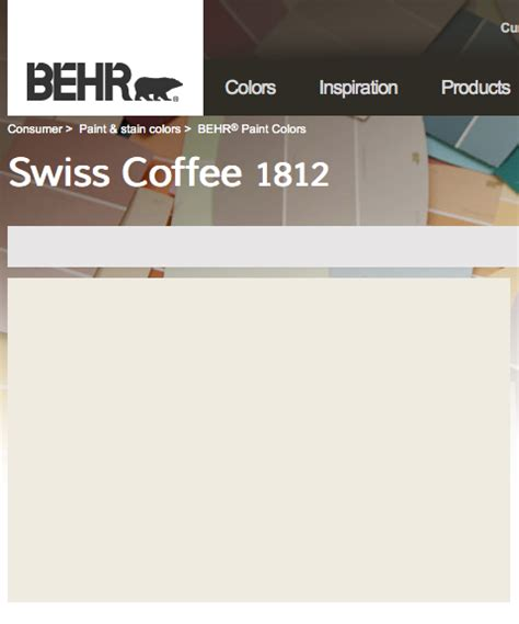 behr swiss coffee nursery house color palette