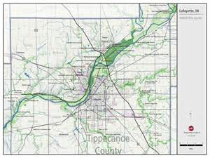 Wabash and Tippecanoe River Map