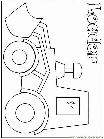 Coloring Construction Equipment Heavy Skid Steer Bobcat