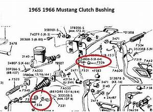 Cougar Fairlane Galaxie Mustang Clutch Rod Bushing  Ne