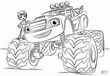 Coloring Blaze Monster Truck Pages Printable Drawing Paper sketch template