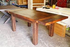 Table De Cuisine En Bois : table de cuisine dessus en vieux bois n 1002 le g ant antique ~ Teatrodelosmanantiales.com Idées de Décoration