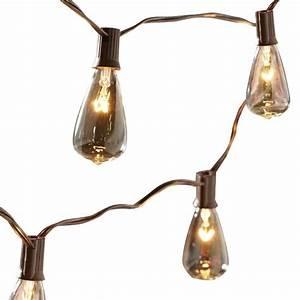 Shop allen roth 14 ft brown indoor outdoor string lights for Outdoor patio string lights lowes