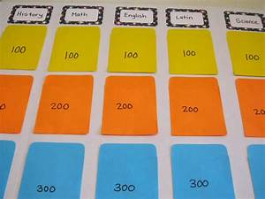 diy jeopardy board diy jeopardy board game templates With kids jeopardy template