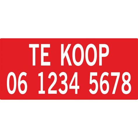 Te Koop Yde by Makelaar Quot Te Koop Met Telefoonnummer Quot Stickers Voor Binnen