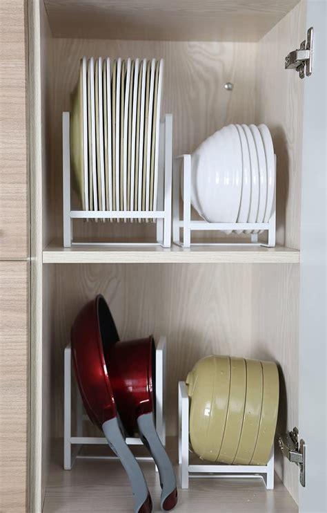 plate holders organizer  kitchen cabinets vertical