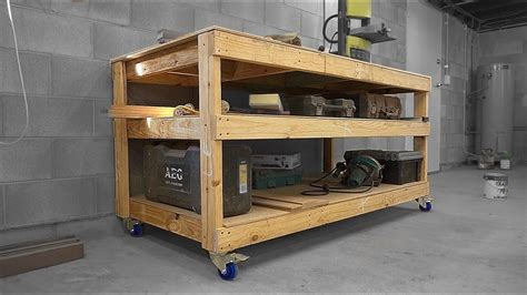 simple diy mobile workbench  xs woodworking youtube