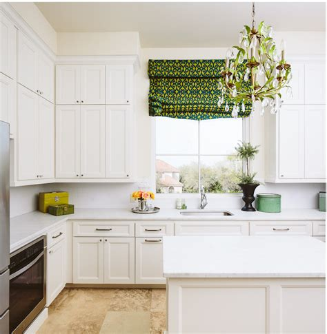 white kitchen  green accents transitional kitchen