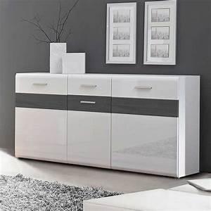 Sideboard Weiß Grau : sideboard hemorian in wei hochglanz wei ~ Orissabook.com Haus und Dekorationen