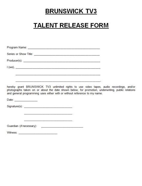 free talent release form talent release form template staruptalent